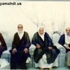 اية الله الشيخ محمد سلمان الهاجري مع رفيق دربه الشيخ الغريري